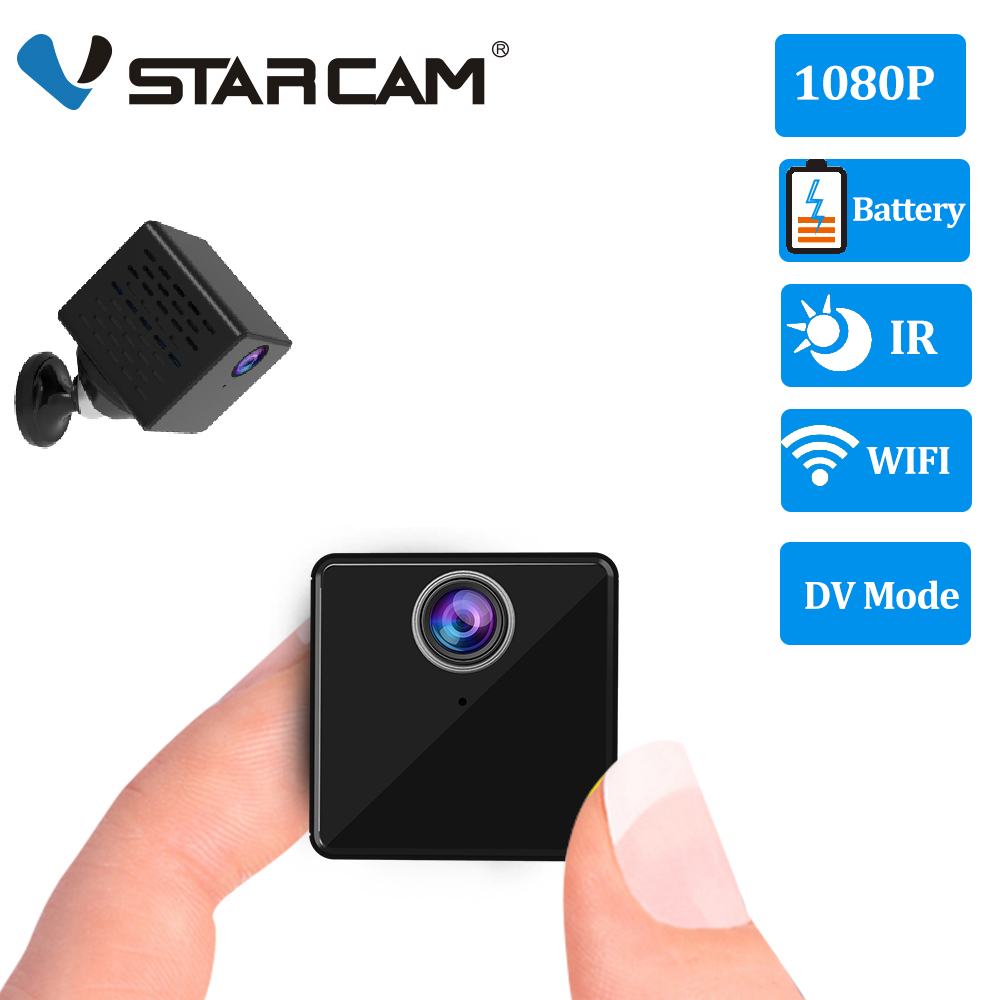 Vstarcam 1080P Mini Camera C90S Rechargeable Battery IP Camera Security Sureveillance Camera Wifi Camera & DV Recorder 2 In 1