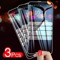 Cristal protector para iPhone 11 Pro Gorilla Glass, protector de pantalla para iPhone 11 Pro 10 X Xs Max Xr 6 7 8 Plus, 3 unidades