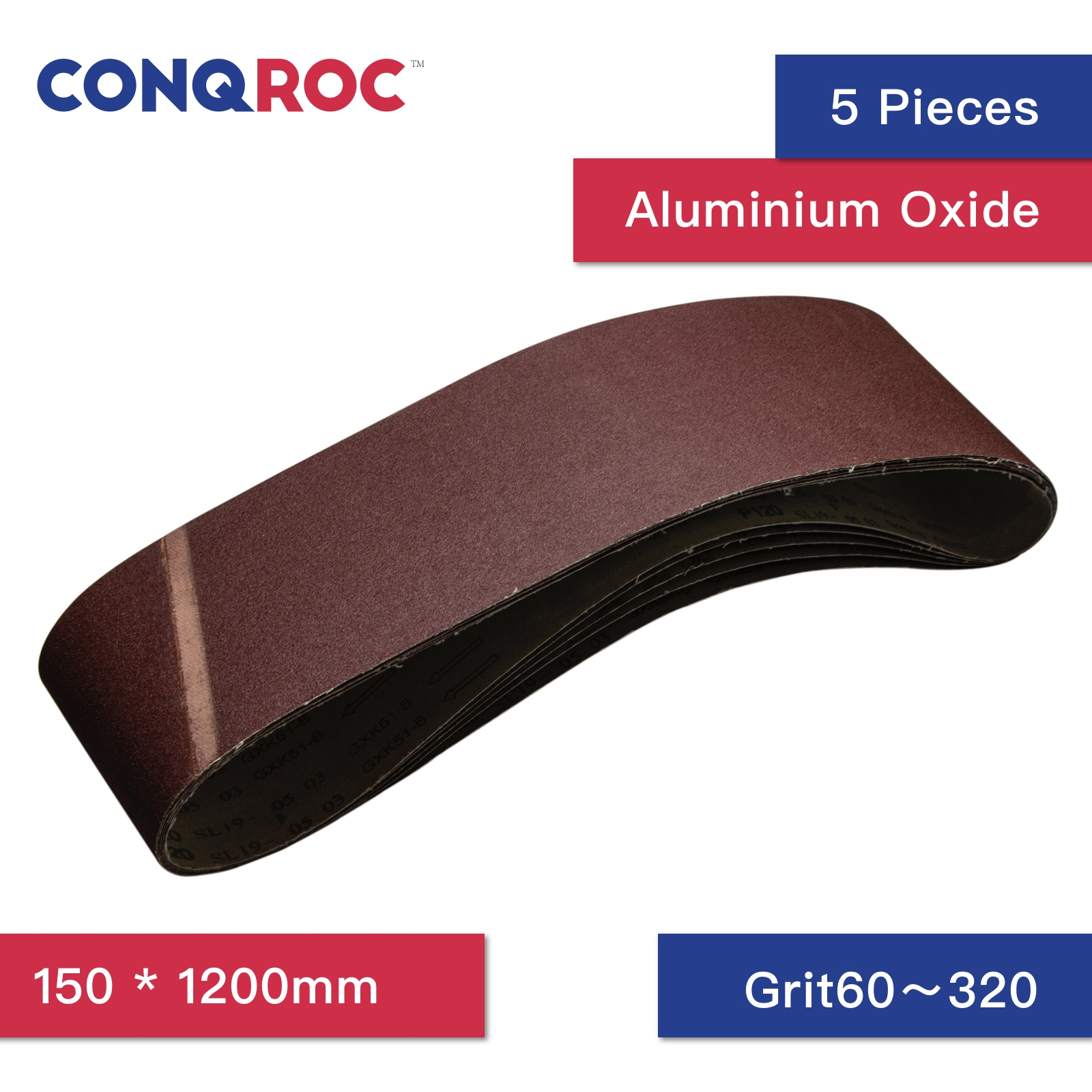 5 Pieces 150 X 1200mm Sanding Belt Aluminum Oxide Sander Belt Grit 60 80 120 180 240 320 Abrasive Tools