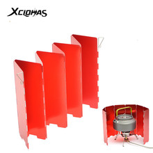 8/9/10 Plates Oxidized Camping Gas Stove Wind Shield Aluminum Alloy Burner Windproof Screen Shield 3 Colors with Plastic Box