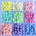 Акриловые бусины для изготовления ювелирных изделий Macaron, одноцветные бусины AB, круглые бусины DIY, пластиковые бусины ручной работы