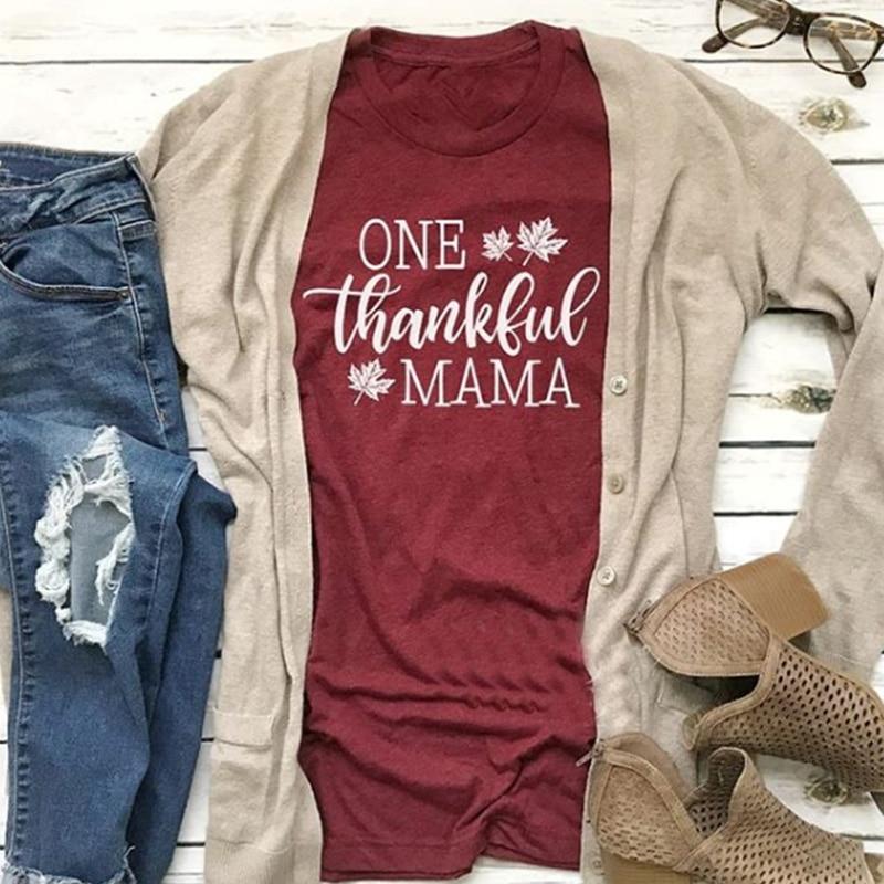Blessed Tee Womens Fashion Thankful Mama Shirt Female Faith Tshirt Women Grateful GraphicTees Girls Plus 2018