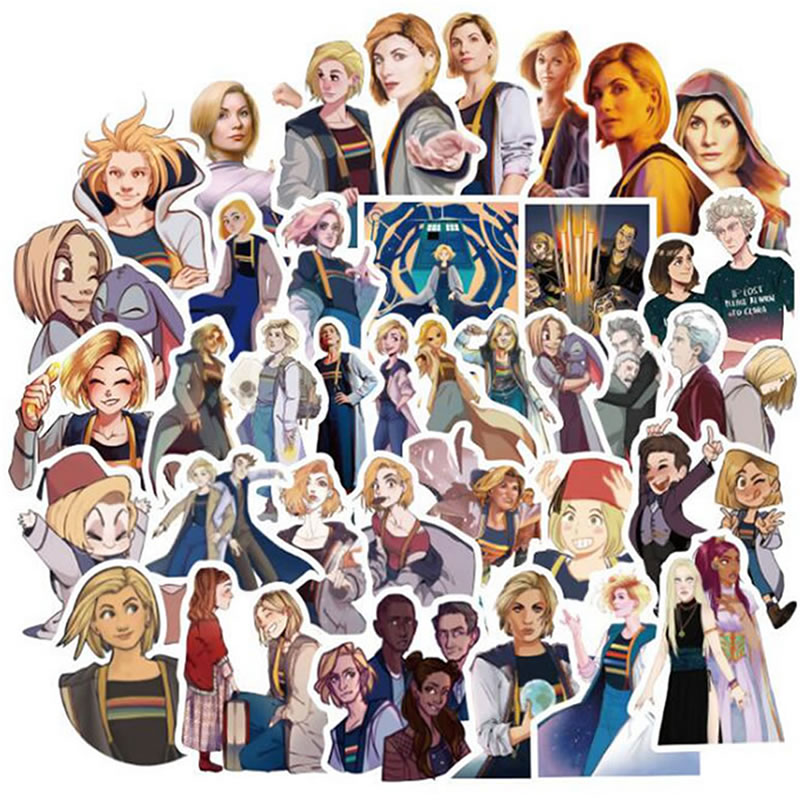 10/30/50pcs/Pack Cartoon Movie Doctor Who Stickers Skateboard Suitcase Guitar Motorcycle Funny Graffiti Sticker Girl Kid DIY Toy image