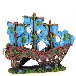 Image 5 - Nhựa Nhà Trang Trí Bể Cá Xác Tàu Bị Đánh Chìm Con Tàu Bể Cá Cảnh Vật Trang Trí Thuyền Buồm Tàu Khu Trục Cá Trang Trí Bể Cá