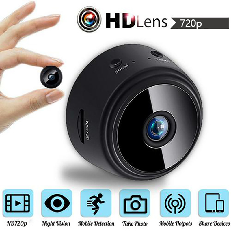 720p mini ip wifi câmera filmadora sem fio câmera web com microfone de segurança em casa dvr noite suporte magnético quente|Webcams| - AliExpress