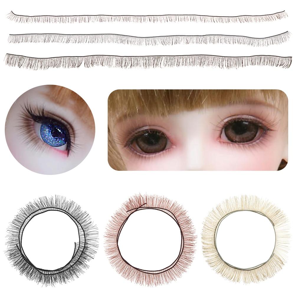 SIRENXI 5Pcs 20cm Kids DIY Doll False Eyelashes Black Brown Tawny Eye Lash Dolls Accessories Doll Parts Toy Decoration Kids Gift