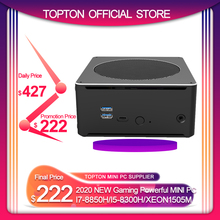Topton Gaming Computer Intel i7 8750H8850H/ i5 8300H/E3 1505M 6 Core 12 Threads 12M Cache Nvme M.2 Nuc Mini PC Win10 Pro AC WiFi