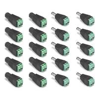 5/10/50/100 stücke DC Power Stecker Adapter Stecker 2,1x5,5mm Weiblich Männlich DC anschlüsse Für 3528 5050 LED Streifen Licht CCTV Kamera