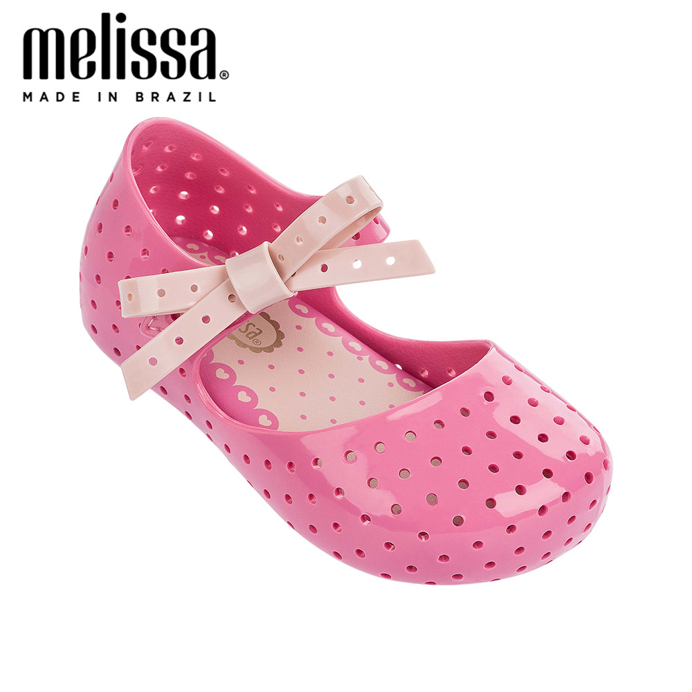 Mini Melissa Furadinha X Princess Girl Bow Jelly Shoes Sandals 2020 NEW Baby Shoes Melissa Sandals For Kids Non-slip