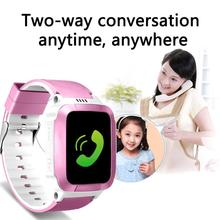 New touch screen children's smart watch phone watch positioning waterproof watch multi-language phone answering все цены