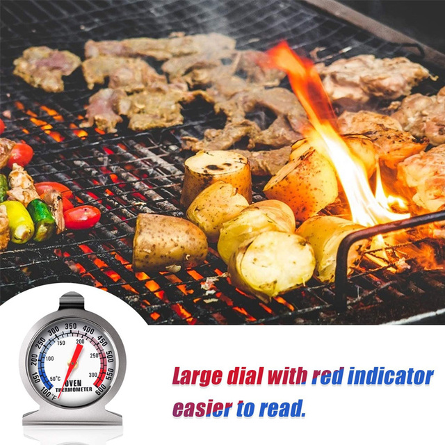 Stainless Steel Oven Thermometer 50-300°C/100-600°F Kitchen Food Meat Dial Thermometer Grill Temperature Gauge For BBQ Baking 4