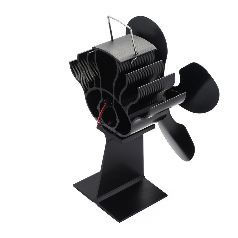 Hot 4-Blade Heat Powered Stove Fan For Wood / Log Burner/Fireplace - Eco