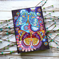 AZQSD Diamond Painting Notebook Special Shaped Animal Diamond Embroidery Sale Butterfly Flower A5 Diary Book Mosaic Gift