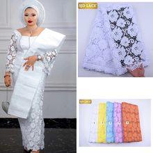 SJD LACE – tissu africain en dentelle Guipure Soluble, 4,5 m, pour mariage nigérian, haute qualité, A2021