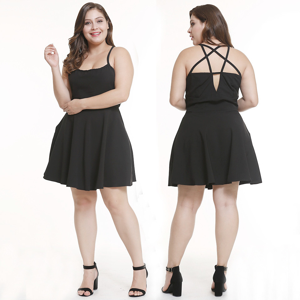 7141 Large Plus Size Women Summer <font><b>Dress</b></font> Short Black Skirt L XL XXL 3XL <font><b>Club</b></font> <font><b>Wear</b></font> Clothing <font><b>Sexy</b></font> Evening Party Clothes Strapless image