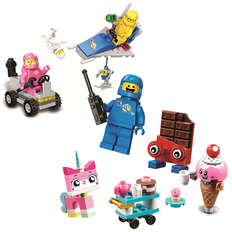 Benny's Space Squad Unikitty's Sweetest Friends EVER Building Blocks Kit Brick Classic Movie 2 Model Kids Toys For Children Gift