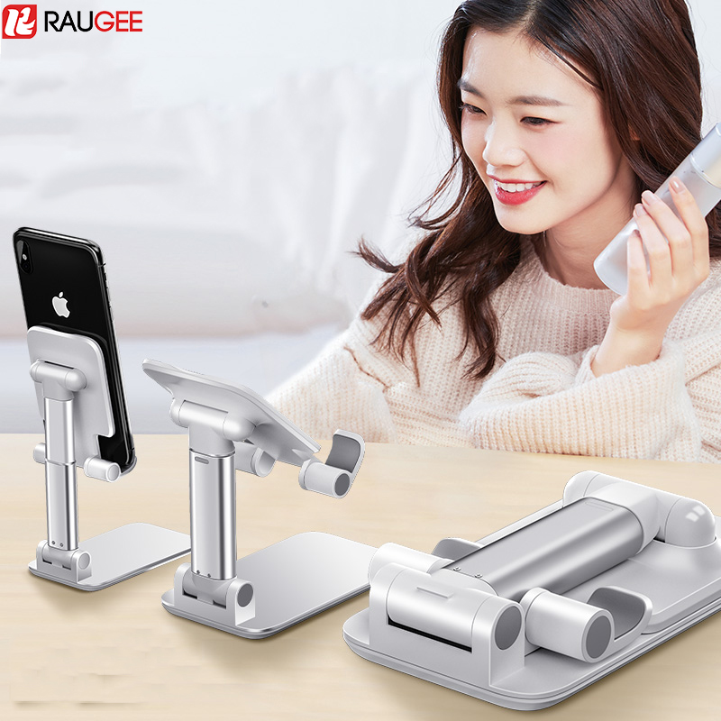 Universal Cell Phone Stand Adjustable Phone Holder For Desk Aluminium Foldable Tablet Holder Desktop For Iphone IPad Xiaomi