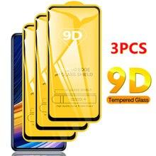 3個9Dフル強化ガラスxiaomiポコX3 F2プロスクリーンxiaomiポコM3 F3 x3 nfc保護ガラス