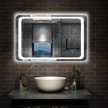 Espejo de baño led anti-baho con sensor de un toque