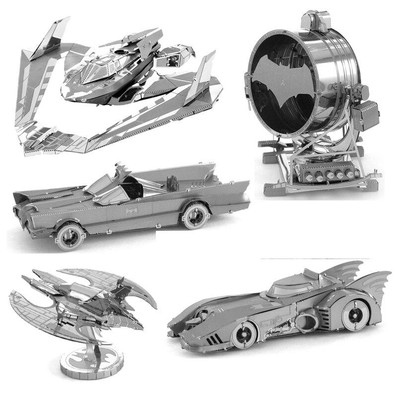 Batmobile BAT-Signal BVS Batwing 3D Metal Puzzle Model Kits DIY Laser Cut Assemble Jigsaw Toy GIFT For Children