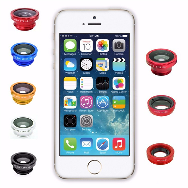 Fish Eye Lens Wide Angle Macro Fisheye Lens Zoom For iphone 7 8 plus XS MAX X Mobile Phone Camera Lens Kit ojo de pez para movil 5