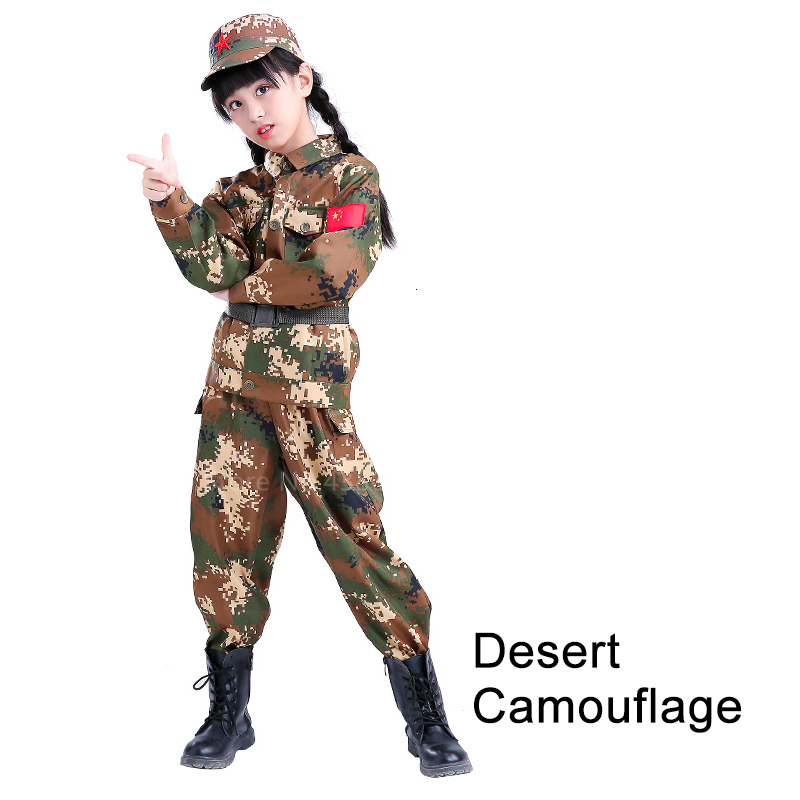 Children Camouflage Tactical Uniforms Hunting Set Men Military Clothing Combat Jackets Pants Kids Army Clothes Cosplay Costumes - Цвет: Style5