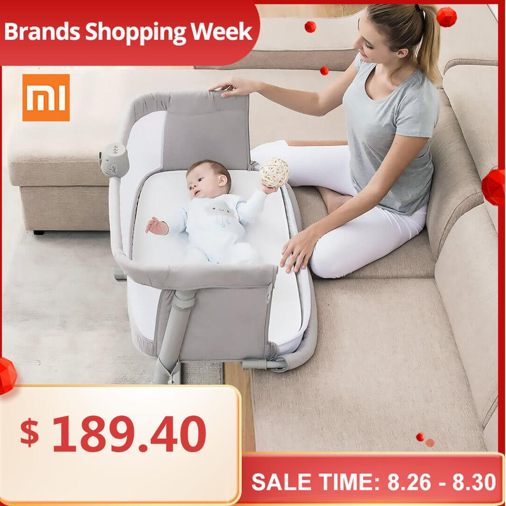 Bed-Furniture Cradle Sleeper Folding Crib Travel Bedbell Toddler Infant Xiaomi Baby Breathable
