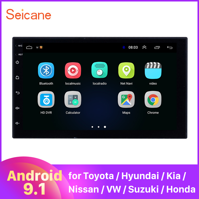 Seicane 2 DIN Универсальный Android 9,1 Автомобильный GPS Мультимедиа Navi Стерео Плеер для Nissan QASHQAI/X-TRAIL TOYOTA COROLLA Hyundai Kia