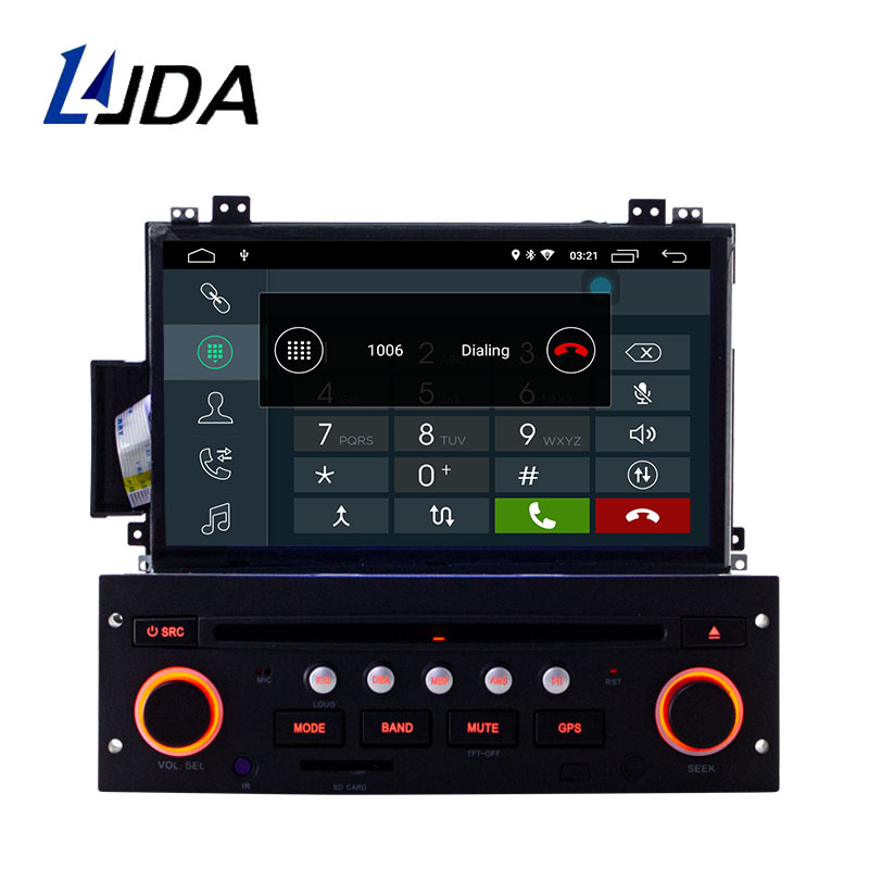 LJDA Android 9.0 Car Multimedia Player For Citroen C5 1 Din Car Radio Autoaudio WIFI GPS Navigation Stereo DVD CD Steering Wheel
