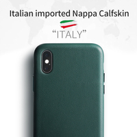 SanCore for iPhone X Xs Max Phone Case Leather Fashion cellphoneFull protection NAPPA Business Premium Shell Luxury Cowhide Man