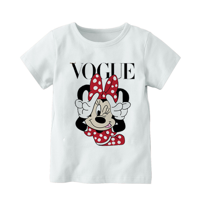 Tops Kids Short-Sleeve T-Shirt Streetwear Minnie-Mouse-Girl Novelty Children Summer Cute title=