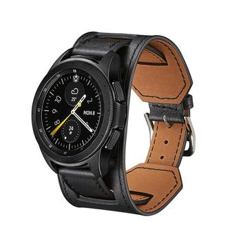 22mm watch band For Samsung Galaxy Watch 46mm 42 active 2 Gear S3 Cuff Genuine Leather Bracelet Replacement amazfit bip strap 46