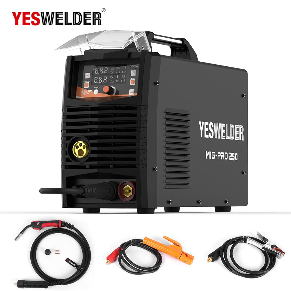 YESWELDER MIG 250A No Gas And Gas Welding Machine Single Phase MIG Welder 220V Iron Welder MAG MMA Lift TIG