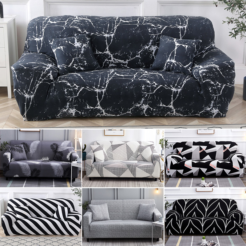 Wrinkle Free Couch Cover with Elastic and Straps for Sofa in Living Room Made of High Quality Spandex Material 2