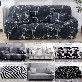 Nowa elastyczna osłona na sofę salon narzuta na sofę rozciągliwy na sofę narzuty meble Canape elastyczna narzuta na sofę bawełna tanie i dobre opinie occuicer 90-140cm 145-190cm 195-230cm 235-300cm SC114 Rozkładana okładka Drukowane Nowoczesne Stałe Podwójne siedzenia kanapa