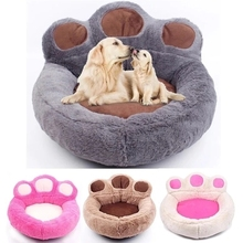 Pet Warm Luxury Bed Bear Claw Shape Cat Dog Sofa Sleeping Puppy Kitten Nest Four Seasons Universal Pet Mat Pet Supplies 4 Colors