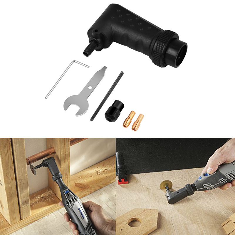 1 Set Power Drill Accessories Right Angle Converter Electric Drill 90 Degree Grinding Wheel Machine Electrician Tools