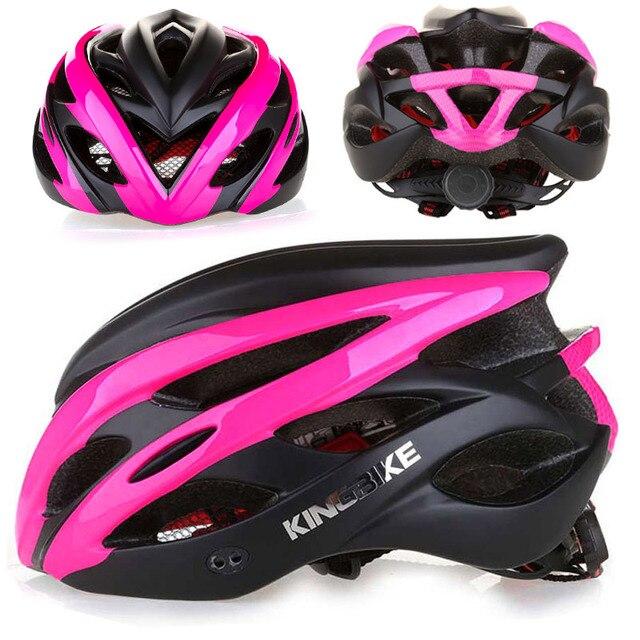 Rosa fosco bicicleta ciclismo capacete in-mold capacete da bicicleta casco capacete da bicicleta hombre mtb esporte protetor capacete ce casco 1