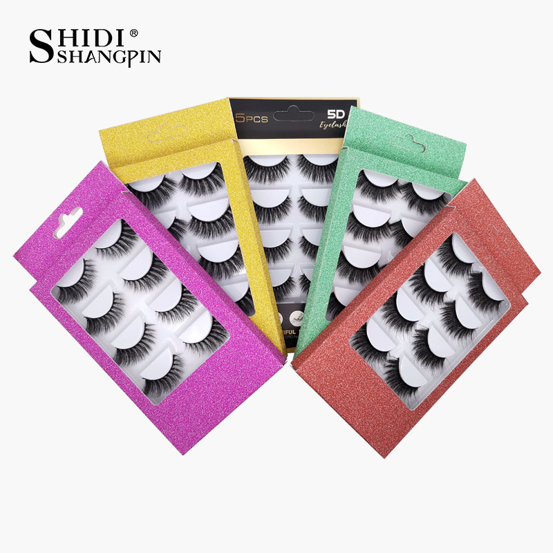 100 Pcs Paper Packing 5 Styles For Options Wholesale Price In Bulk For Drop Shipping Fits 5 Pairs Eyelashes Packing Box Gorgeous