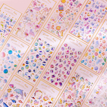 DIY Stickers Stationery Scrapbooking Crystal Epoxy Transparent Magic Planet 1-Sheets
