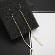 simple fashion new jewelry snake chain Tassel Earrings long round bead earrings alloy earrings manufacturers wholesale xinhan needle fashion pearl earrings long tassel earrings women simple earrings accessories wholesale