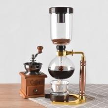 جديد نمط المنزل سيفون صانع القهوة الشاي سيفون وعاء فراغ القهوة الزجاج نوع ماكينة القهوة فلتر 3cup