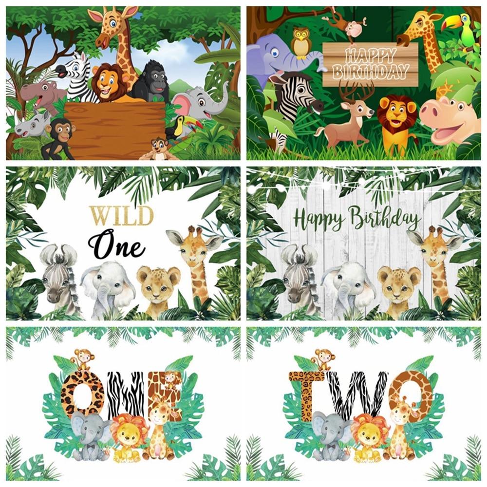 Yeele Tropical Jungle Forest Wild Animal Safari Party Newborn Baby Shower 1st Birthday Backdrop Vinyl Photography Background