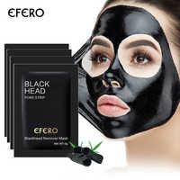 Paquete de 10 Blackhead removedor de la nariz máscara negro máscara de barro de tratamiento para el acné Peel negro máscara de cabeza de poro de cuidado de la piel pelar máscara