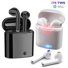 I7s tws fones de ouvido bluetooth 5.0 fones de ouvido sem fio estéreo baixo fones de ouvido in-ear esporte à prova dwaterproof água frete grátis