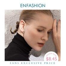 ENFASHION Perle Ohr Manschette Clip Auf Ohrringe Für Frauen Gold Farbe Minimalistischen Earcuff Ohrringe Ohne Piercing Modeschmuck E1131
