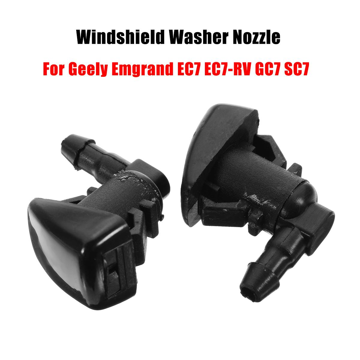 2Pcs Car Windshield Wiper Washer Spray Nozzle Jet For Geely Emgrand EC7 EC7-RV GC7 SC7