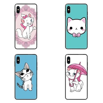 The Cartoon AristoCats Marie Cats Big For Galaxy S20 S10e S10 S9 S8 S7 S6 S5 edge Lite Plus Ultra Black Soft TPU Phone Case image