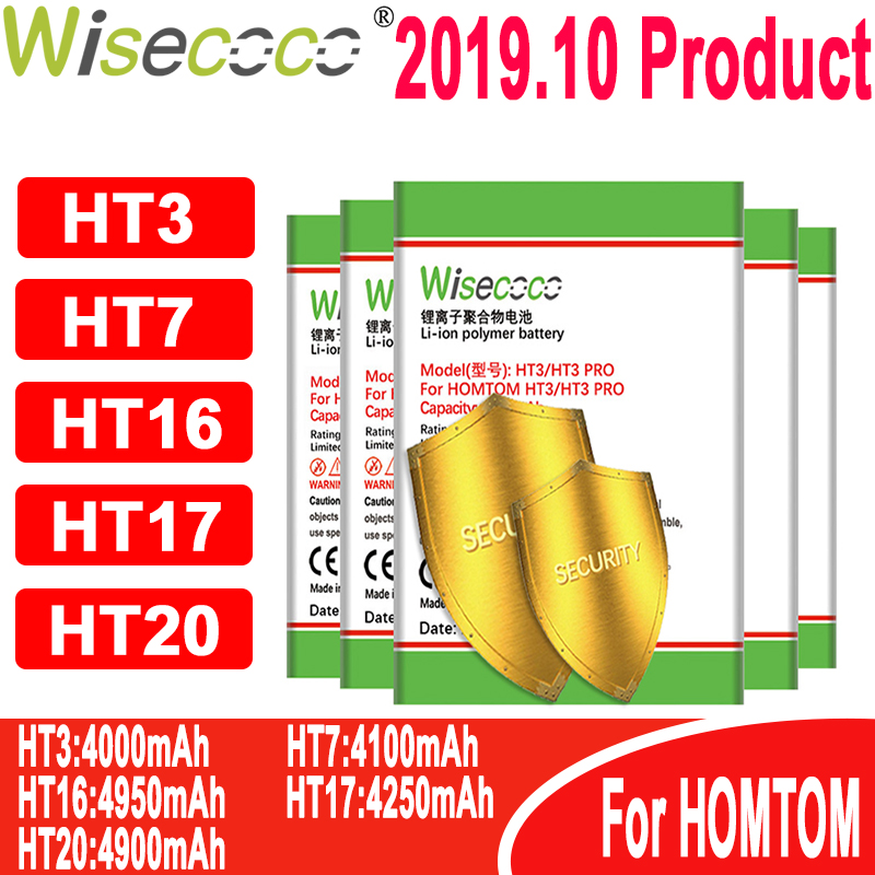 WISECOCO New Produce Battery For Homtom battery ( HT3 HT7 HT16 HT17 HT20 ) Pro Phone In Stock+Tracking number(China)