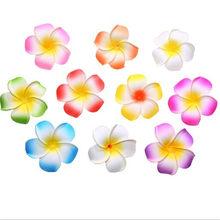 12 шт. 4/6/9 см разноцветный гавайский пляжный цветок из пенопласта, искусственный цветок для свадьбы, вечеринки, домашнего декора, DIY головной ...